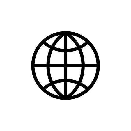Illustration Vector graphic of globe icon. Fit for world, travel, networking, navigation, logistics etc. Ilustracje wektorowe