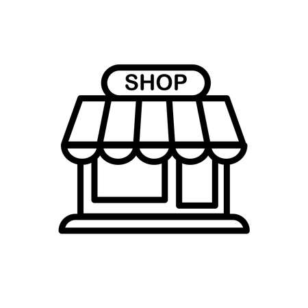 Illustration Vector graphic of store icon. Fit for shop, sale, business, commerce, e commerce, retail etc.