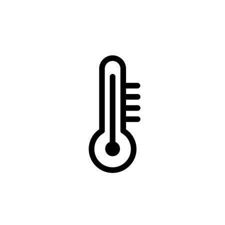 Illustration Vector graphic of thermometer icon. Fit for temperature, season, measure etc.