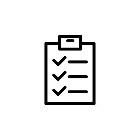 Illustration Vector graphic of checklist icon. Fit for form, clipboard, symbol, mark, list, report etc.