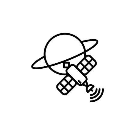 Illustration Vector graphic of satellite icon. Fit for communication, sign, connection, symbol, technology, space, internet, wireless etc.