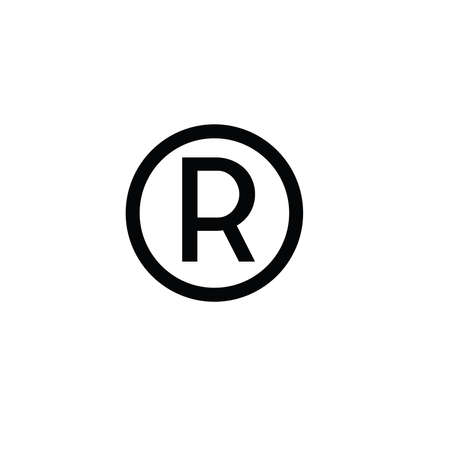 Illustration Vector graphic of R label icon. Fit for information reproduction etc.