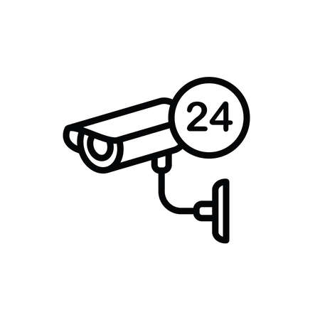 Illustration Vector graphic of cctv icon. Fit for secure, surveillance, protection, watching, monitoring etc.