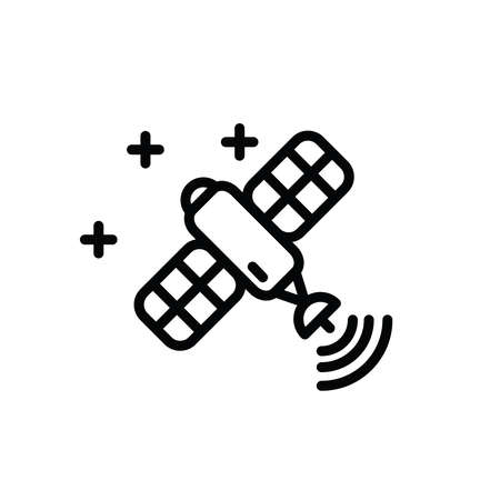 Illustration Vector graphic of satellite icon. Fit for communication, sign, connection, symbol, technology, space, internet, wireless etc. Reklamní fotografie - 152003841