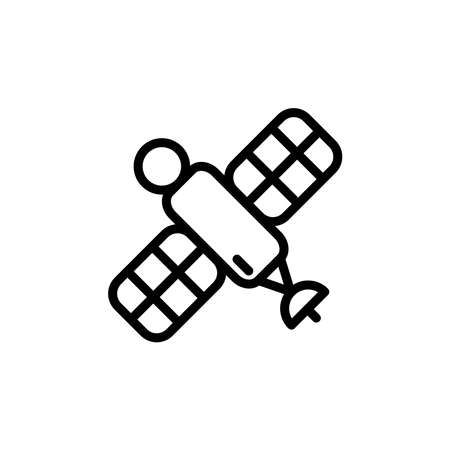 Illustration Vector graphic of satellite icon. Fit for communication, sign, connection, symbol, technology, space, internet, wireless etc. Reklamní fotografie - 152003844