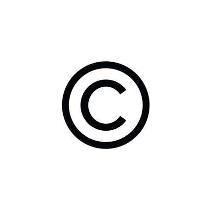 Illustration Vector graphic of copyright label icon Illusztráció