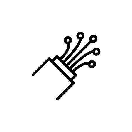Illustration Vector graphic of fiber optic cable icon. Fit for electrical, power, industrial etc.