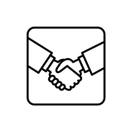 Illustration Vector graphic of hand shake icon. Fit for partnership, deal, friendship etc. Vektorgrafik