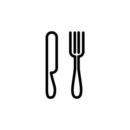 Illustration Vector graphic of spoon, fork, knife icon. Fit for restaurant,dining, eat, lunch etc 向量圖像