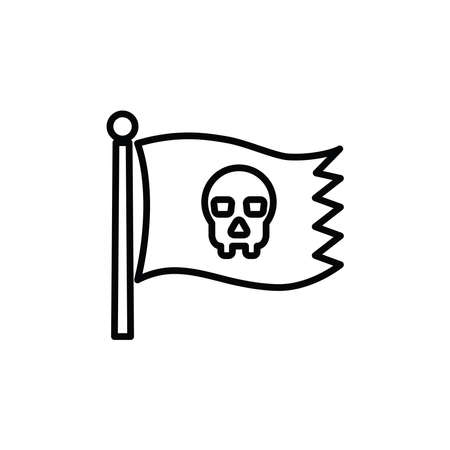 Illustration Vector graphic of pirate icon. Fit for pirates flag, adventure, danger etc.