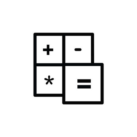 Illustration Vector graphic of calculator icon. Fit for accounting, economy, commerce, analysis etc