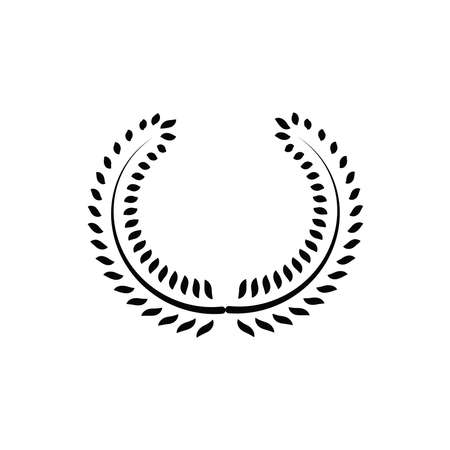 Illustration Vector graphic of laurel wreath icon. Fit for winner, achievement, certified etc.