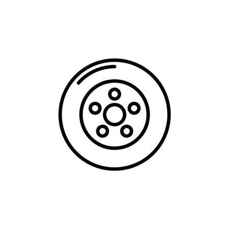 Illustration Vector graphic of wheel tire car icon. Fit for vehicle, automobile, repairing, maintenance, shop etc.  イラスト・ベクター素材
