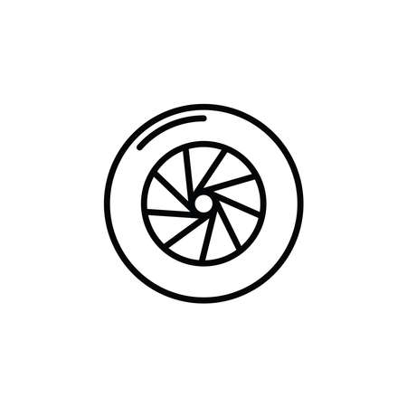 Illustration Vector graphic of wheel tire car icon. Fit for vehicle, automobile, repairing, maintenance, shop etc.