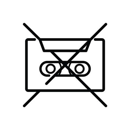 Illustration Vector graphic of cassette icon. Fit for 80s, 90s, vintage etc.