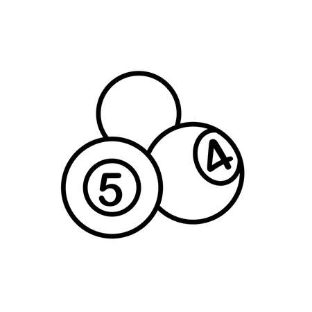 Illustration Vector graphic of billiard ball icon. Fit for sport, game, competition, play, leisure etc.