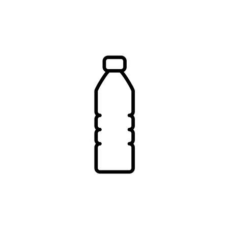 Illustration Vector graphic of bottle plastic icon. Fit for container, package, dispose etc.