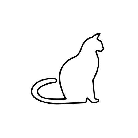 Illustration Vector graphic of cat icon. Fit for pet, animal, cute etc.