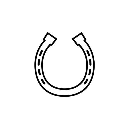 Illustration Vector graphic of horseshoe icon. Fit for lucky, fortune, success, farm, mascot etc.