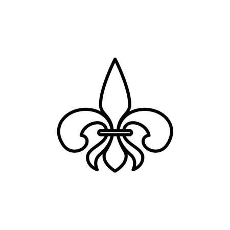 Illustration Vector graphic of Fleur de lis icon. Fit for heraldic, decoration, antique, ornamental etc.