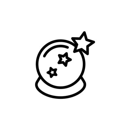 Illustration Vector graphic of magic ball icon. Fit for magician, fortune, prediction etc.