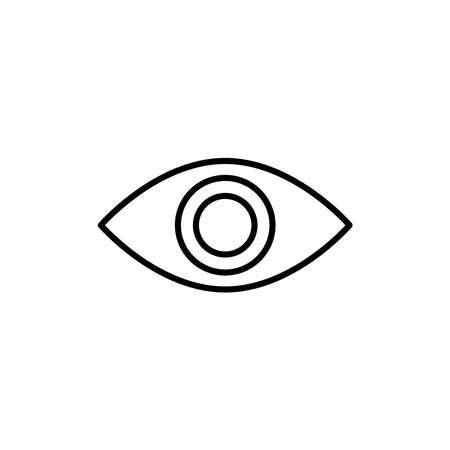 Illustration Vector graphic of eye icon. Fit for vision, look, view, optic, see etc.