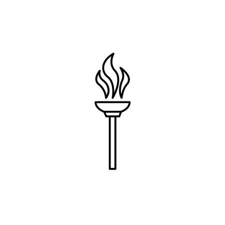Illustration Vector graphic of torch icon. Fit for flaming, liberty, victory etc. 矢量图像