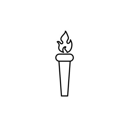 Illustration Vector graphic of torch icon. Fit for flaming, liberty, victory etc. Vectores