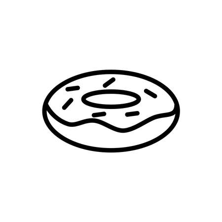 Illustration Vector graphic of donut icon. Fit for cake, cafe, food, bakery etc.