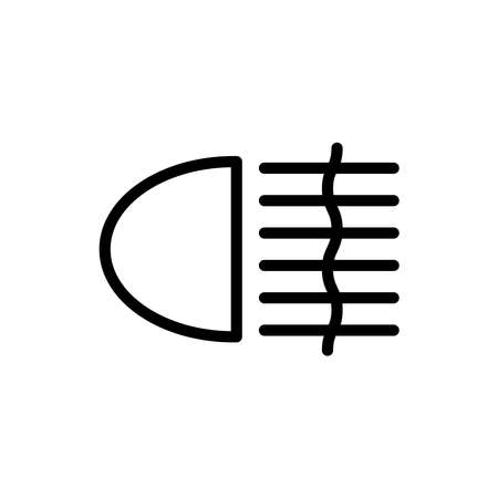 Illustration Vector graphic of fog light icon. Fit for warning, sign, climate, switch etc.