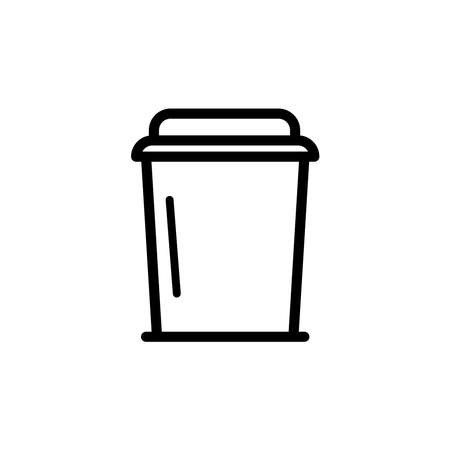 Illustration Vector graphic of disposable icon. Fit for coffee, drink, takeaway etc.