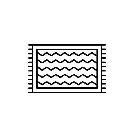 Illustration Vector graphic of carpet icon. Fit for floor, mattress, fabric etc.