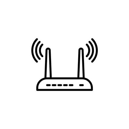 Illustration Vector graphic of router icon. Fit for wireless, internet, network, switch hub etc.