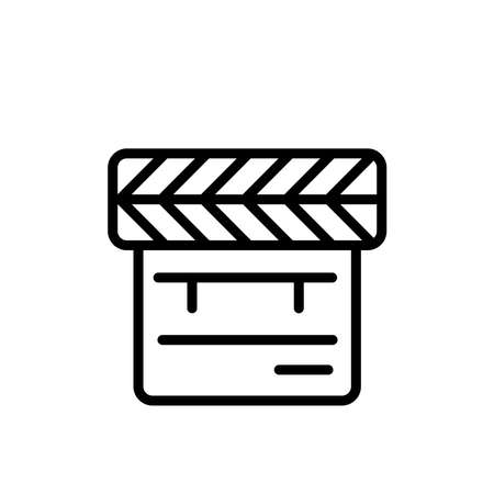 Illustration Vector graphic of clapper icon. Fit for film, movie, cinematography, director etc.