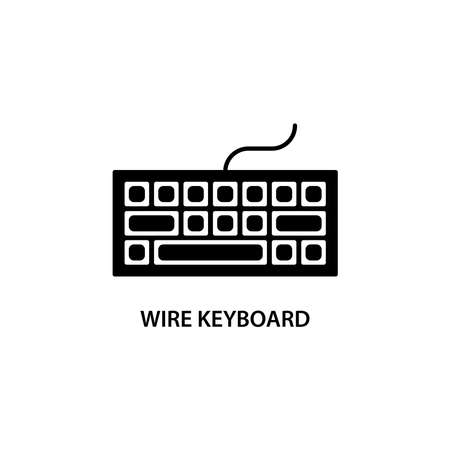 Illustration Vector graphic of keyboard icon. Fit for PC, computer, hardware, device, control etc.