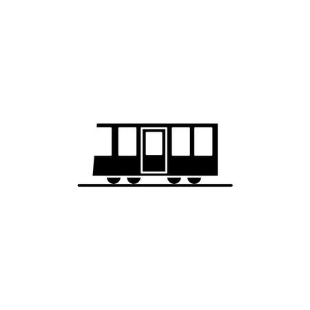 Illustration Vector graphic of train icon. Fit for transportation, subway, railway etc.