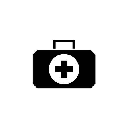 Illustration Vector graphic of medical kit bag icon. Fit for emergency, help, first aid etc.