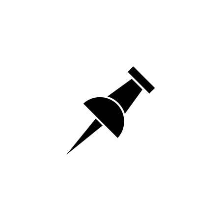 Illustration Vector graphic of Push pin icon template