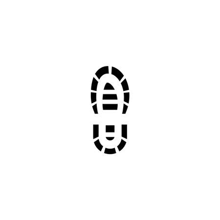 Illustration Vector graphic of boot print icon template