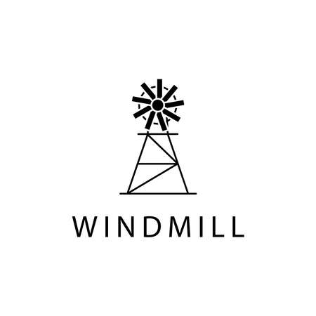 Illustration Vector graphic of Windmill icon template