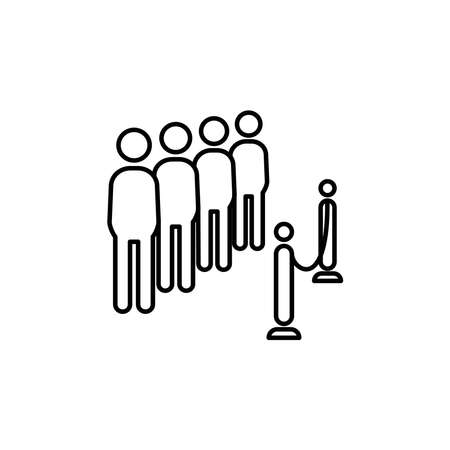 Illustration Vector graphic of queue icon template