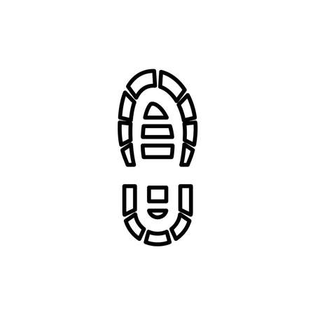 Illustration graphic of boot print icon template Vettoriali