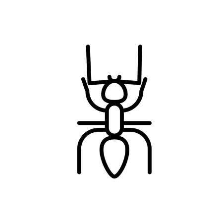 Illustration graphic of ant icon template