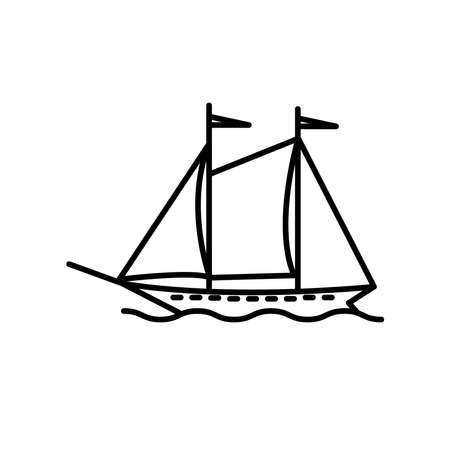 Illustration graphic of wind ship icon template