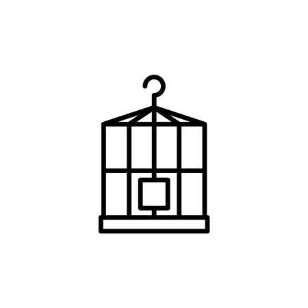 Illustration graphic of birdcage icon