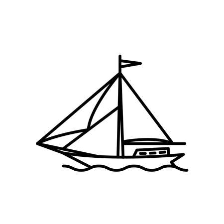 Illustration Vector graphic of wind ship icon template