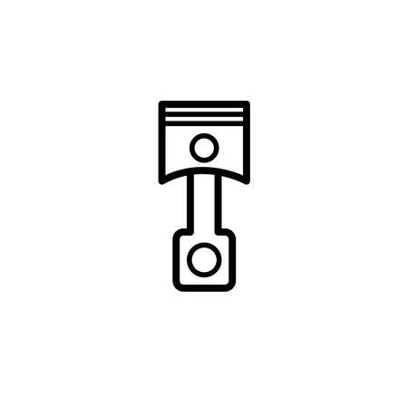Vector illustration, piston icon design template Иллюстрация