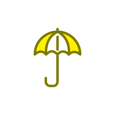 Illustration Vector graphic of umbrella icon. Fit for protection, safety, climate, anti virus, insurance, relaxation, recreation etc.