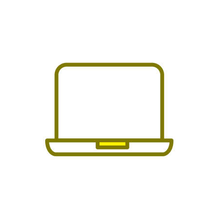 Illustration Vector graphic of laptop icon. Fit for gadget, electronic, device, network, communication etc.