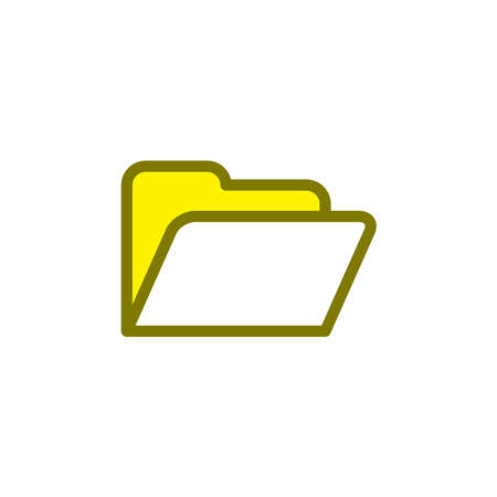 Illustration Vector graphic of folder icon. Fit for document, file, archive, portfolio etc.